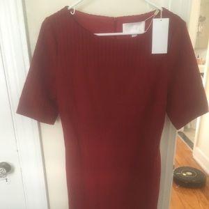 NWT Hugo Boss red sweater dress